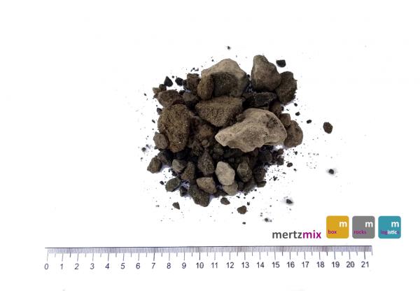 Kalkstein-Brechsand-Splitt-Gemisch